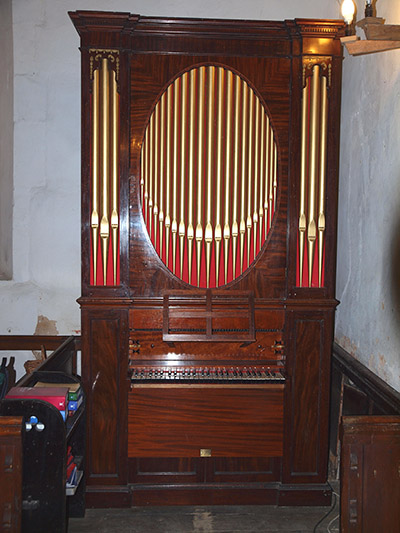 The chamber organ at St Michael's, Caldecote